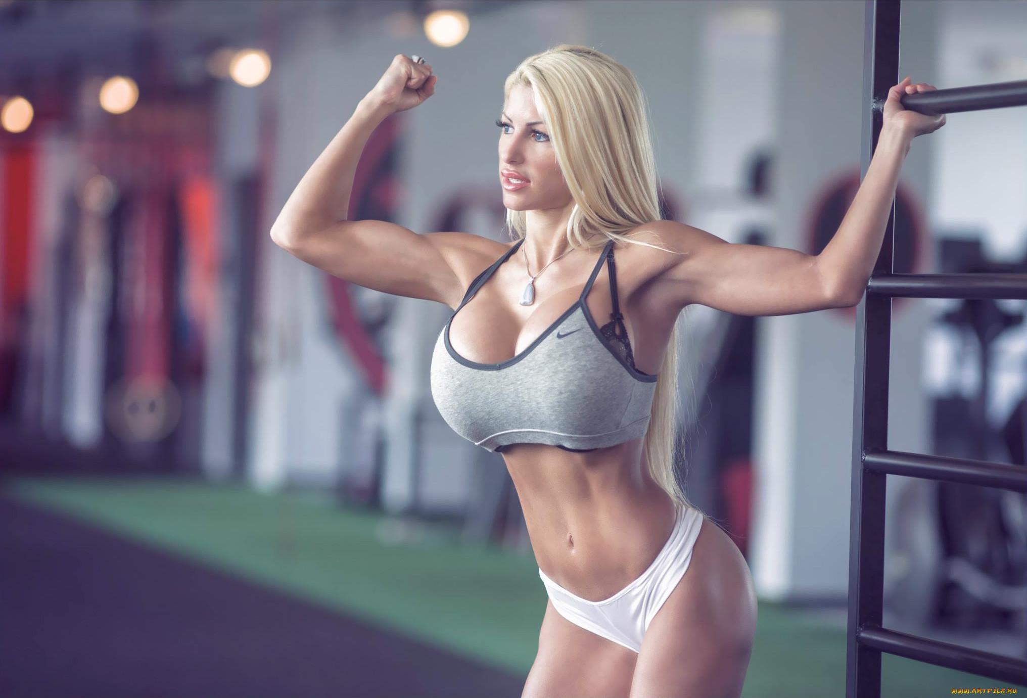 Фитнес модели грудастые